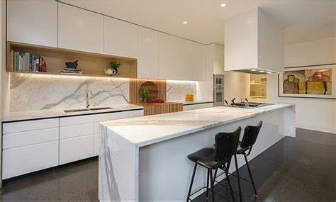 marble kitchen bench kitchen marble benchtop white cupboards contemporary my