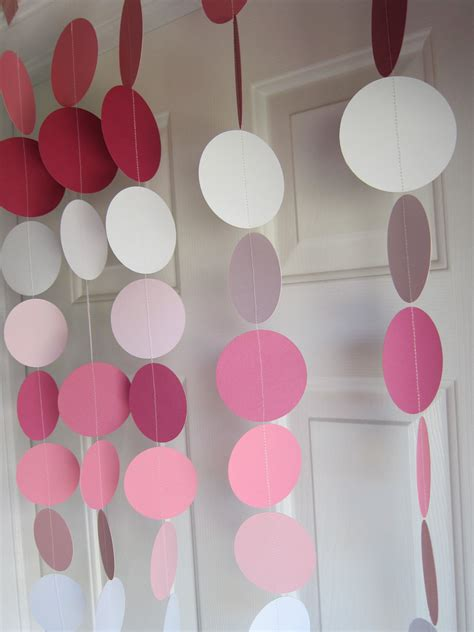 paper decorations for bedrooms paper garland pink garland 1st birthday party weddings