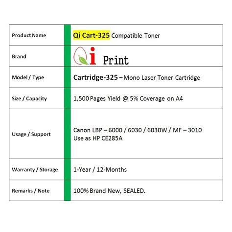 Toner Crg 325 canon crg 325 lbp6030 mf3010 ce285a end 1 19 2019 10 15 pm