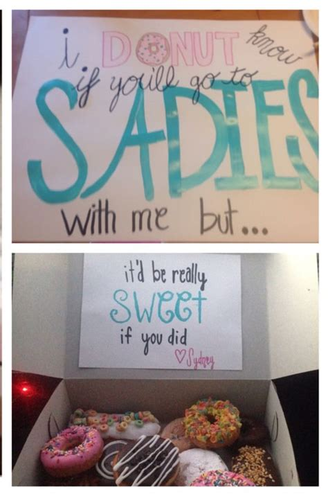 donut prom proposal sadies asking my cute cousin made this and used pink box