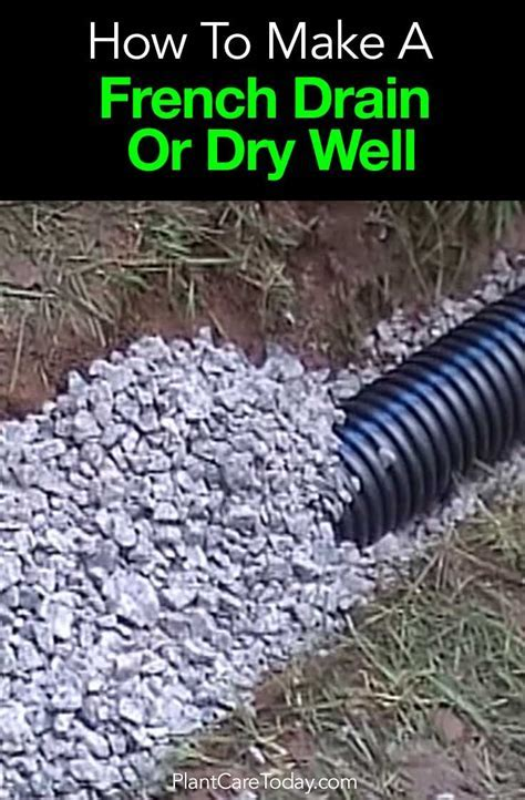 How To Install A French Drain Or Dry Well   French drain
