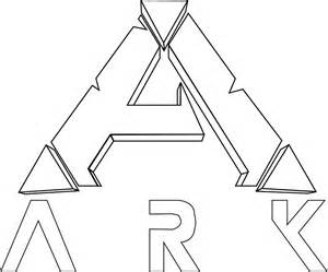 ARK Survival Evolved Minimalist White Stickers By Flame316  sketch template