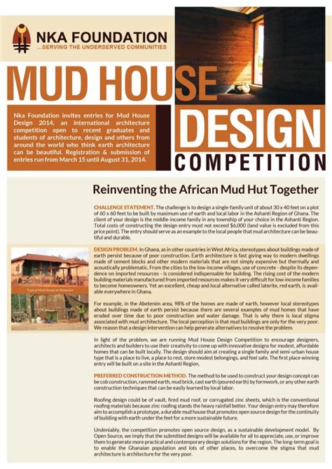 design competition briefs 2015 2014 mud house design competition competition brief