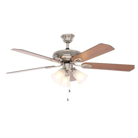 hton bay glendale 52 in brushed nickel ceiling fan hton bay glendale 52 in brushed nickel ceiling fan