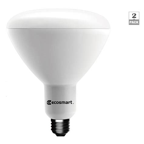 Ecosmart Led Light Bulbs Ecosmart 90w Equivalent Daylight Br40 Dimmable Led Light Bulb 2 Pack 1003015202 The Home Depot