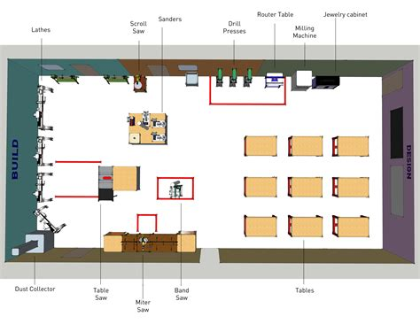 woodworking shed layout and easy ways to design your own woodworking shop or