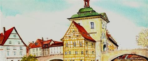Mba Bamburg by Germany Watercolors By