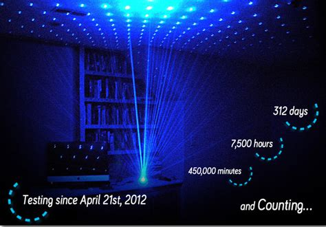 firefly a blue laser l that fills a room with hundreds