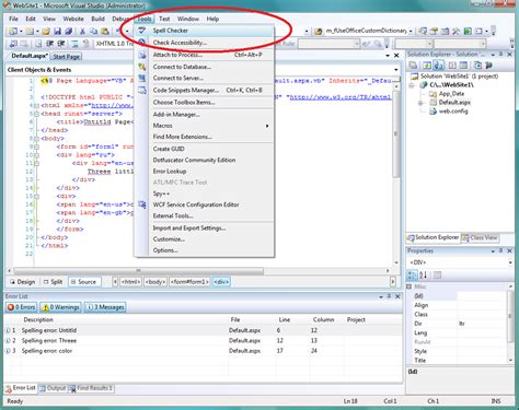 layout menu in visual studio 2008 spell checker update 2 2 full support for vs 2008 sp1