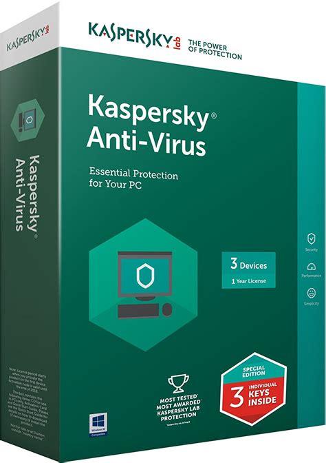Antivirus Kaspersky Security 3 User kaspersky anti virus 2018 4 user 1 year dvd eng pc link computers