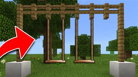 swing minecraft how to make a working swing in minecraft tutorial pocket