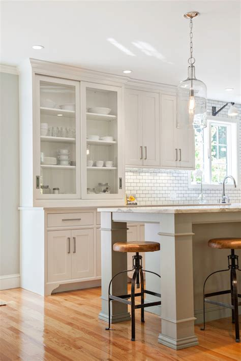 Built In Kitchen Island Doors Kitchens Shaker Kitchen Gray Kitchen Island Nickel Cabinet Pulls Built In Kitchen