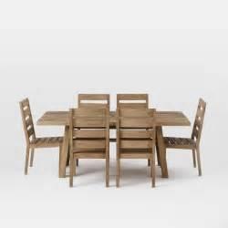 Dining Table Set Expandable Jardine Expandable Dining Set West Elm