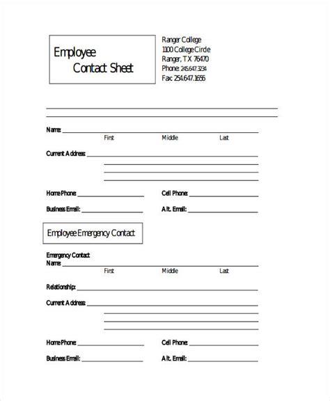 employee data sheet premium employee sheet templates 10 free word pdf excel