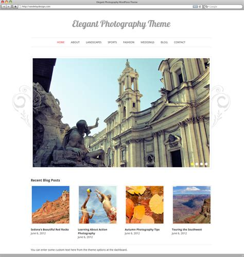 elegant photography wordpress theme vandelay design