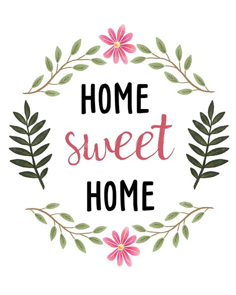 Sweet Home sweetdailiness free home sweet home printable