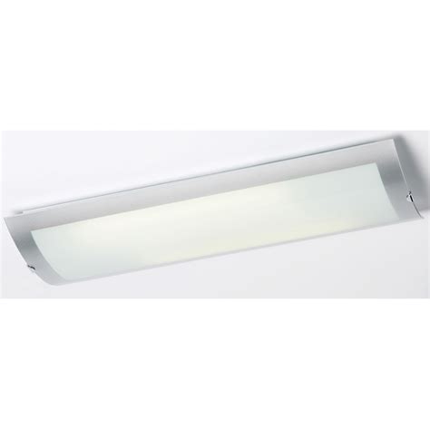 Kitchen Overhead Lights Endon Endon 1405 67 Plch 2 Light Modern Low Energy Flush Kitchen Ceiling Light Opal Glass Chrome