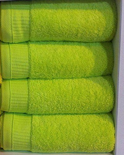 Green Kitchen Towel Set by Bright Lime Green 550gsm 100 Cotton 6