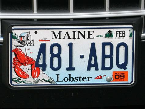 Maine State Vanity Plates by Maine Acadia 2008