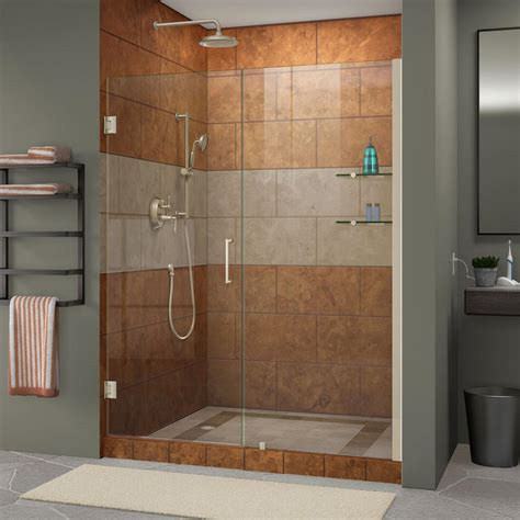 48 frameless shower door dreamline unidoor 47 to 48 in x 72 in frameless hinged