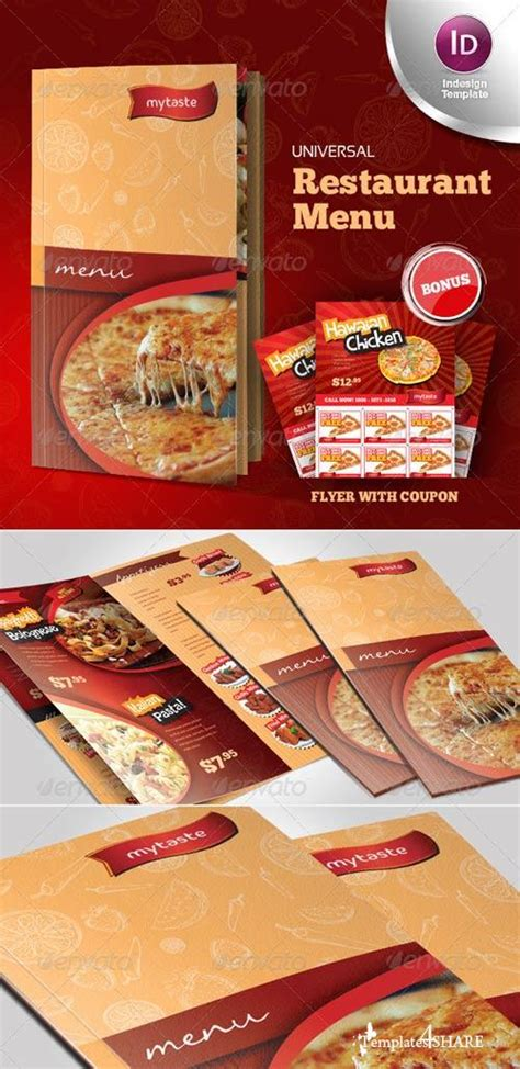Graphicriver Universal Restaurant Menu Indesign Template 187 Templates4share Com Free Web Indesign Menu Template