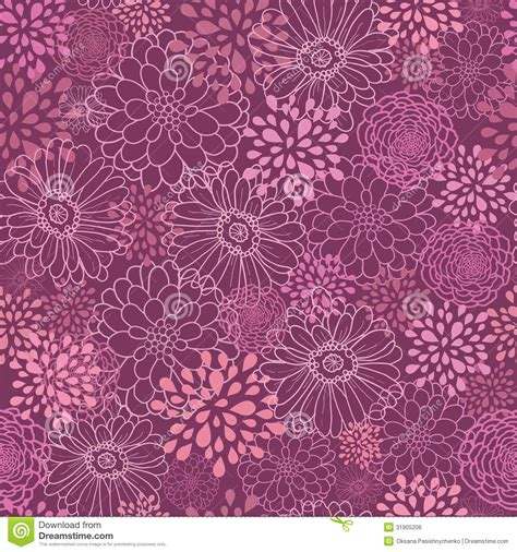 fashion elegant background with hand drawn flowers royalty purple field flowers seamless pattern background royalty