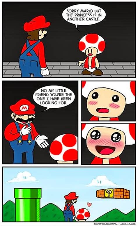 Super Mario Decides He Would Rather Be With Toad Than The