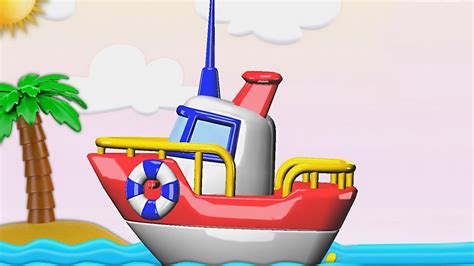 cartoon boat youtube boats and ships for children construction game educational