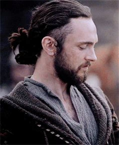 ragnar lothbrok long hair undercut hairstyle photograph george blagden athelstan in the vikings guys with