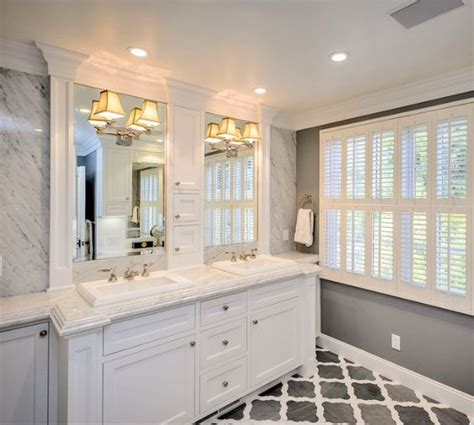 crown moulding in bathroom crown molding around mirrors trim master bath like