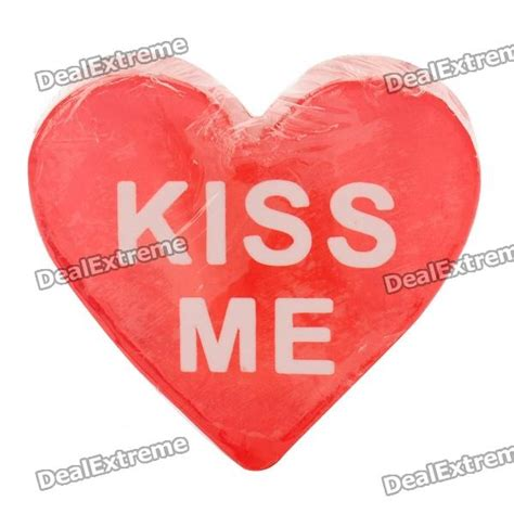 kiss me in the bathroom lovely kiss me heart style essential oil soap red free shipping dealextreme