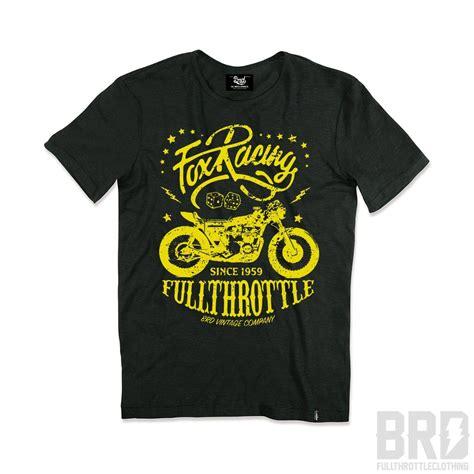 T Shirt Fox Racing t shirt vintage fox racing handmade in italy slub