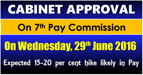 Cabinet consent likely for the Seventh Pay Commission