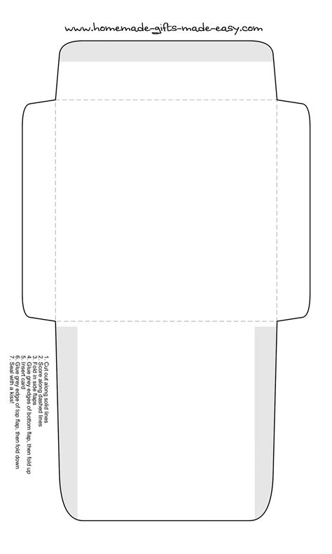 square envelope printing template free