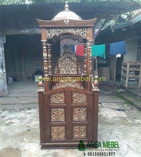 Mimbar Jati Untuk Masjid mimbar model brave jati masjid mewah anisa mebel jati