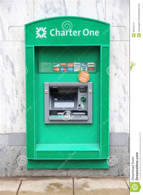 Charter One Mastercard Gift Card - charter one bank atm editorial stock image image 40415114