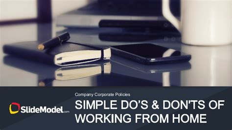 5 Dos And Donts Of Working From Home simple do s and don ts of working from home slidemodel