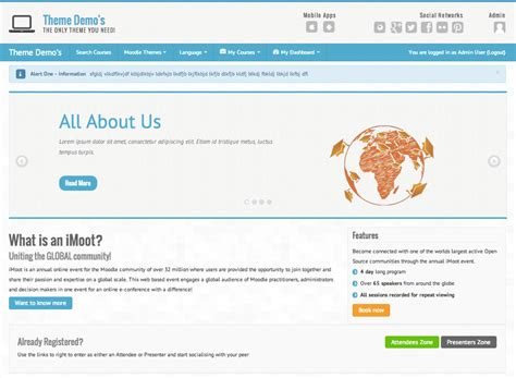 theme moodle essential moodle in english essential theme 2 5 4 released