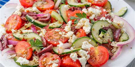 dinner salad recipes best greek salad and dressing recipe how to make greek salad