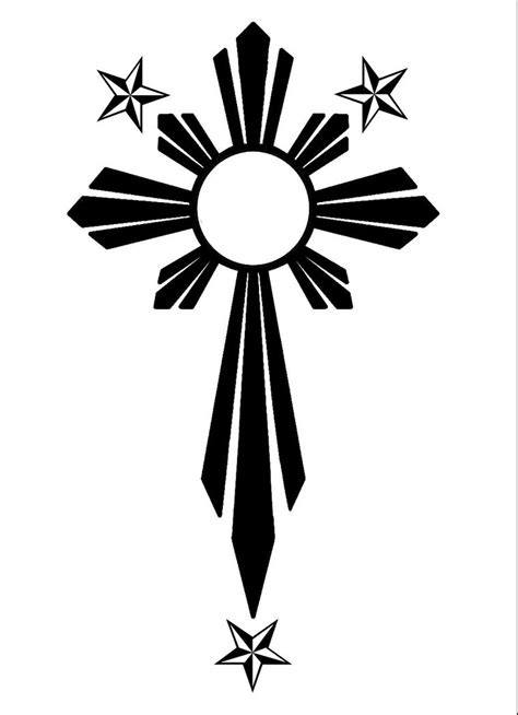 filipino cross tattoo 16 designs
