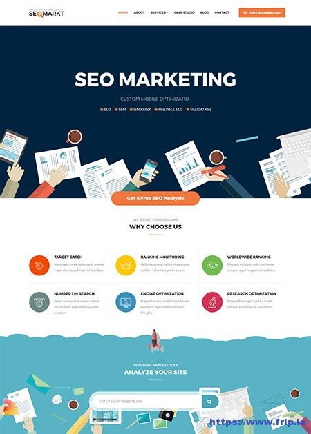 Marketing Website Template by 30 Best Seo Website Templates For Seo Companies Agency