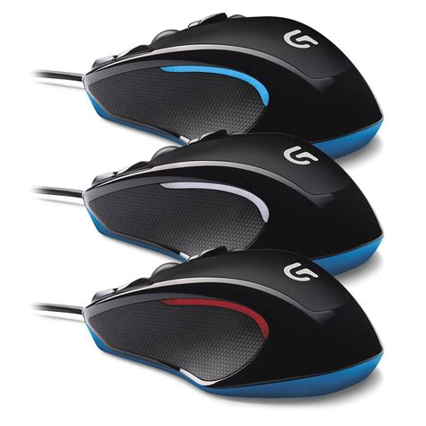 Logitech G300s Optical Ambidextrous Gaming Mouse logitech g300s optical ambidextrous gaming mouse 9 programmable buttons onboard
