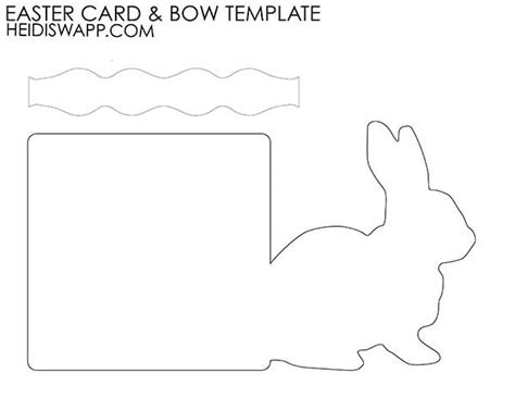 Easter Bunny Templates Cards by Heidi Swapp Easter Card Template Easter
