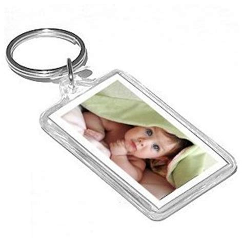 acrylic keychain photo frames package of 12