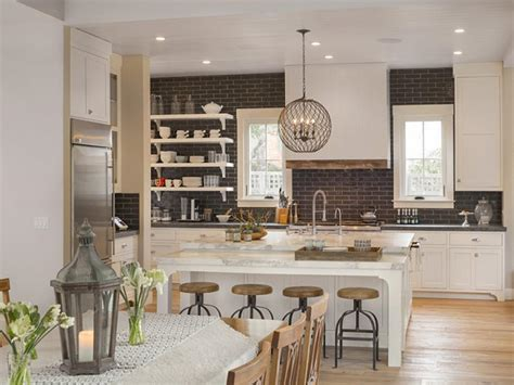 modern farmhouse kitchens kitchen island bar stools pictures ideas tips from