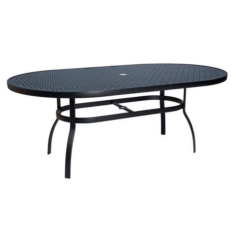 woodard deluxe oval glass dining table woodard deluxe lattice top oval dining table 826174wl