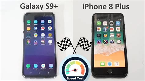 samsung galaxy    iphone   speed test comparison youtube
