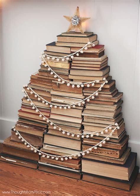 build a christmas tree of books book punksbook punks