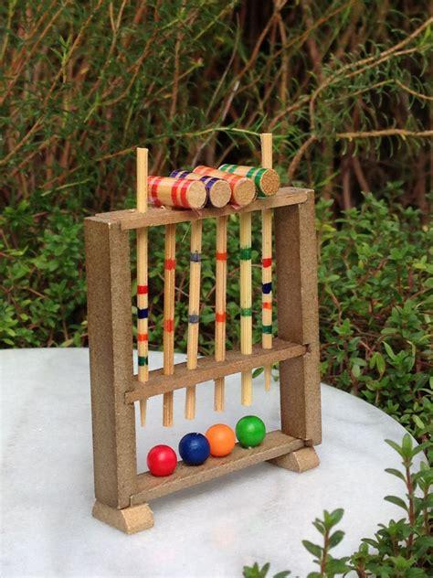 Ebay Patio Accessories Miniature Dollhouse Garden Accessories Wood Wooden