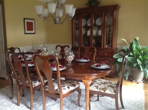 Stanley Furniture Dining Room Sets Updating 1980s Queen Anne Dining Table Hutch And Buffet